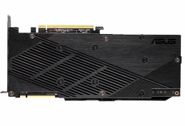 Концы лопастей вентиляторов системы охлаждения 3D-карты Asus GeForce RTX 2080 Dual EVO соединены в кольцо