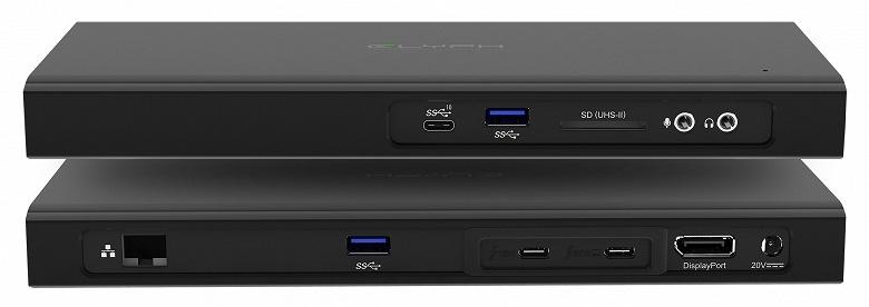 Стыковочная станция Glyph Thunderbolt 3 Dock оснащена слотом для SSD с поддержкой NVMe
