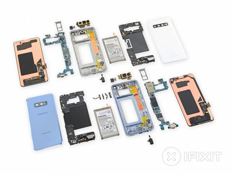 Хуже Samsung Galaxy S9. Флагманские смартфоны Galaxy S10 будет сложно ремонтировать