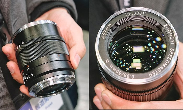 Появились фото объектива Zhongyi Speedmaster 0,95/50mm III, который будет выпускаться в вариантах с креплениями Canon RF, Nikon Z и Sony E